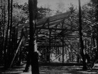 Bau der Radsporthalle