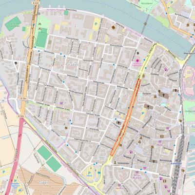 Streckenführung City-Radrennen