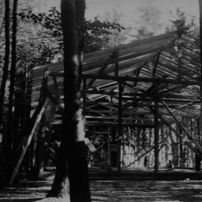 Bild vom Rohbau der Halle, August 1932